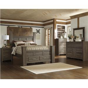 Signature Design by Ashley Juararo 4 Piece Queen Storage Bedroom Group