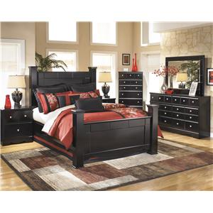 Signature Design by Ashley Shay 4 Piece Queen Poster Bedroom Set
