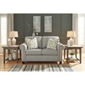 Signature Design by Ashley Alandari Transitional Loveseat with Rolled Arm