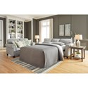 Signature Design by Ashley Alandari Transitional Queen Sofa Sleeper with Rolled Arms