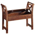 Signature Design by Ashley Abbonto Acacia Solid Wood Accent Bench with Storage