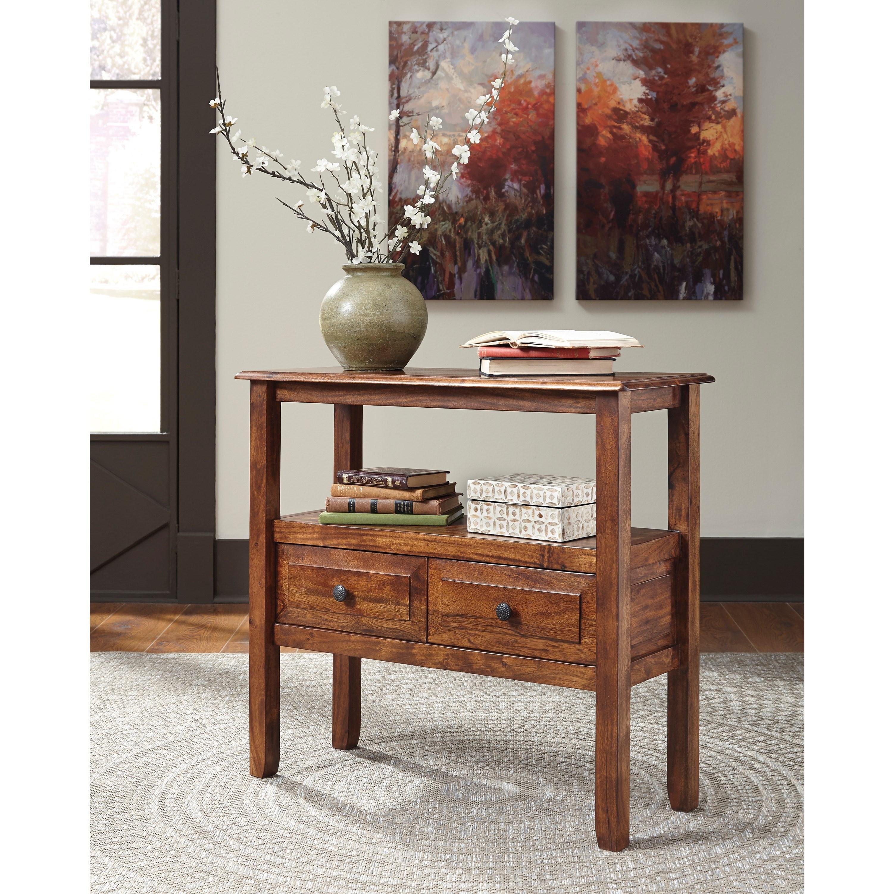 Ashley Furniture Bloomington Illinois Photos Reviews: Signature Design By Ashley Abbonto Acacia Solid Wood
