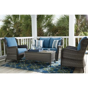 Signature Design by Ashley Abbots Court Outdoor Conversation Set