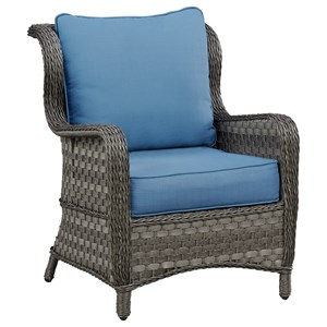 Signature Design by Ashley Abbots Court Outdoor Lounge Chair w/ Cushion