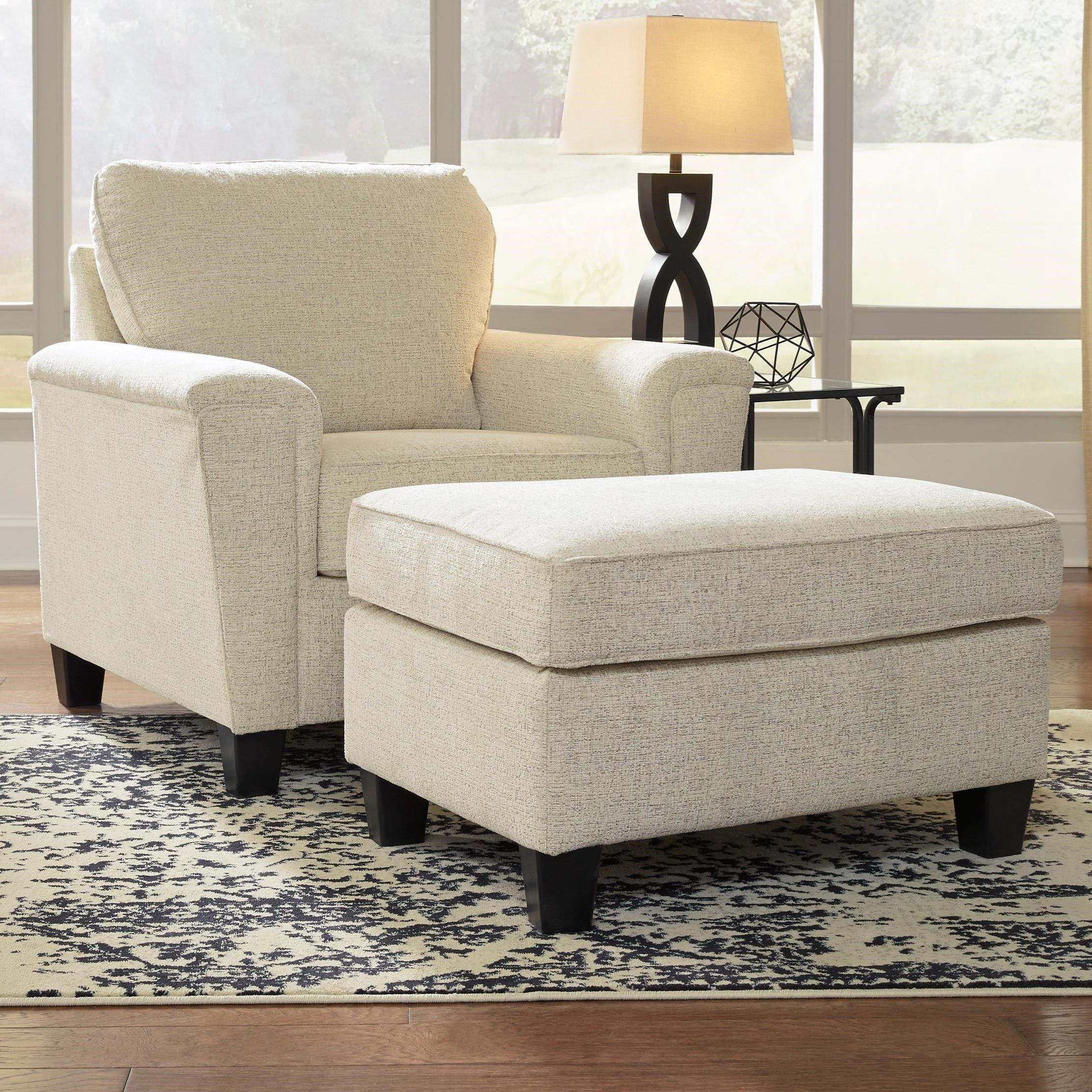 Abinger Chair & Ottoman by Signature Design by Ashley at Reid's Furniture