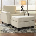 Signature Design by Ashley Abinger Chair & Ottoman - Item Number: 8390420+14
