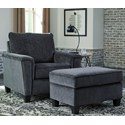Signature Design by Ashley Abinger Chair & Ottoman - Item Number: 8390520+14