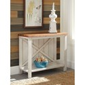 Signature Design by Ashley Abramsland Farmhouse Console Sofa Table with Two-Tone Finish