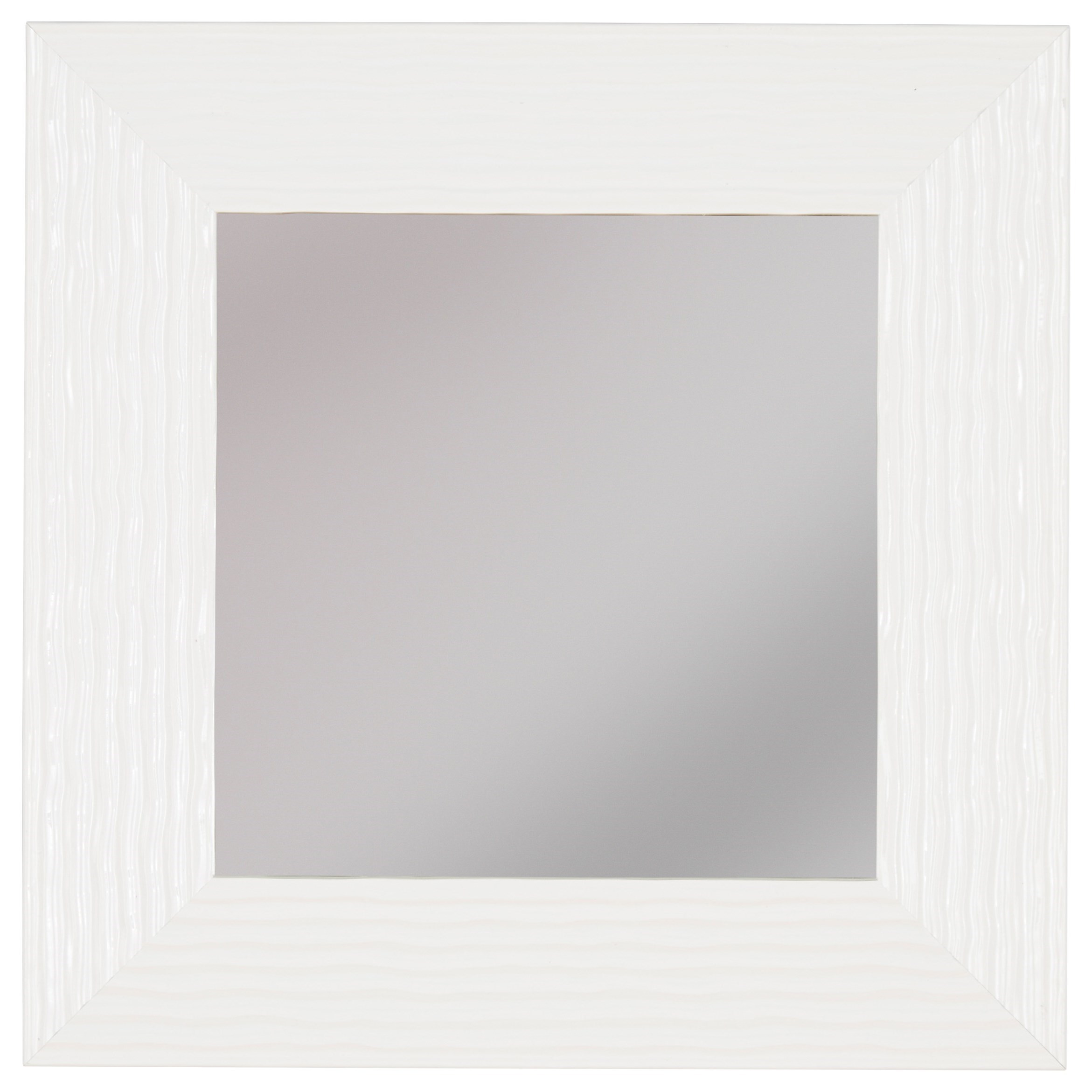 Signature Design by Ashley Accent Mirrors Odelyn White Wall Mirror - Item Number: A8010010