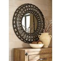 Signature Design by Ashley Accent Mirrors Ogier Brown/Gold Finish Accent Mirror