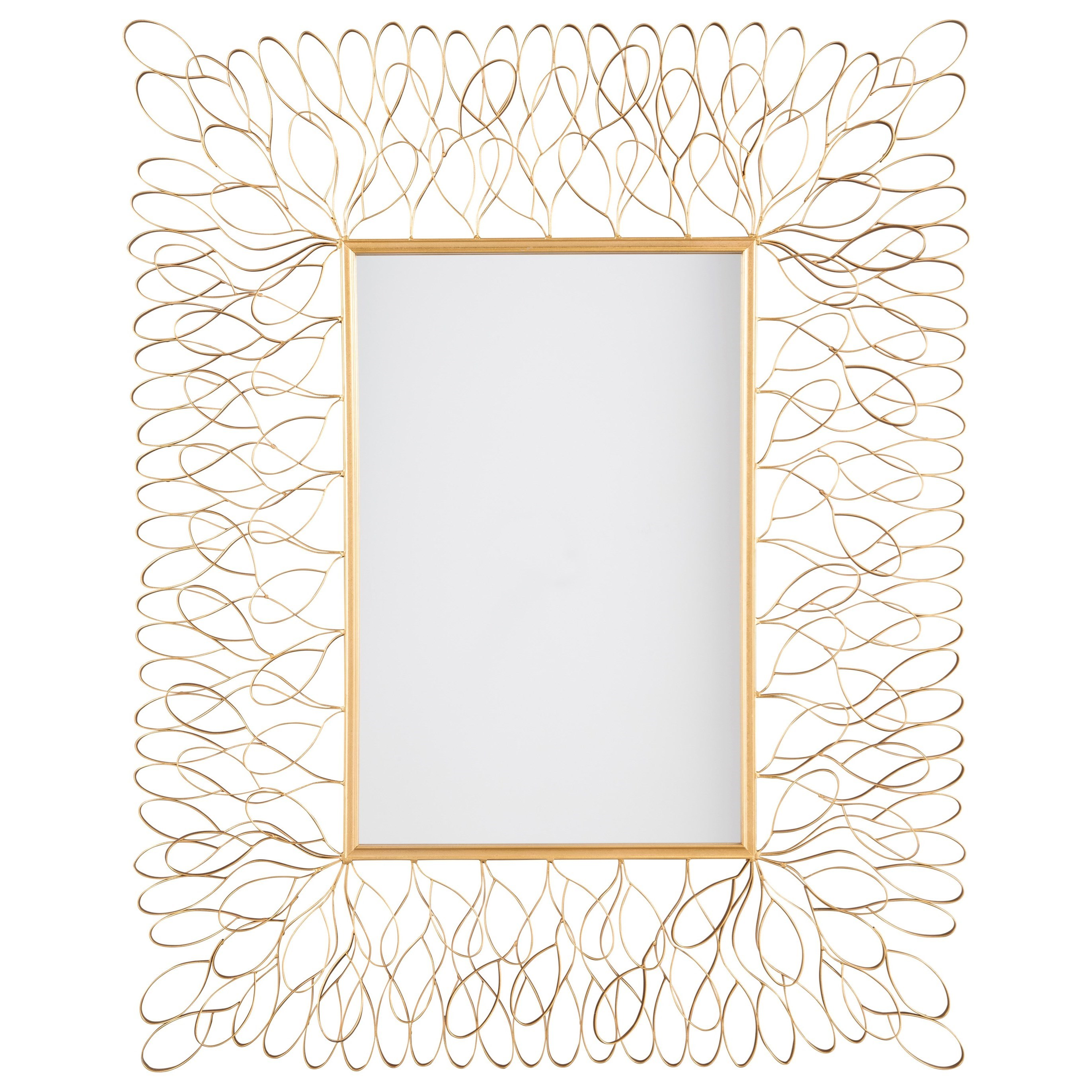 Signature Design by Ashley Furniture Accent Mirrors Ogdon Antique Gold Finish Accent Mirror - Item Number: A8010026