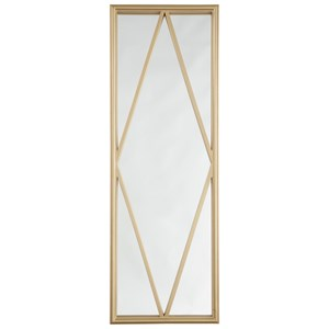 Signature Design by Ashley Furniture Accent Mirrors Offa Gold Finish Accent Mirror