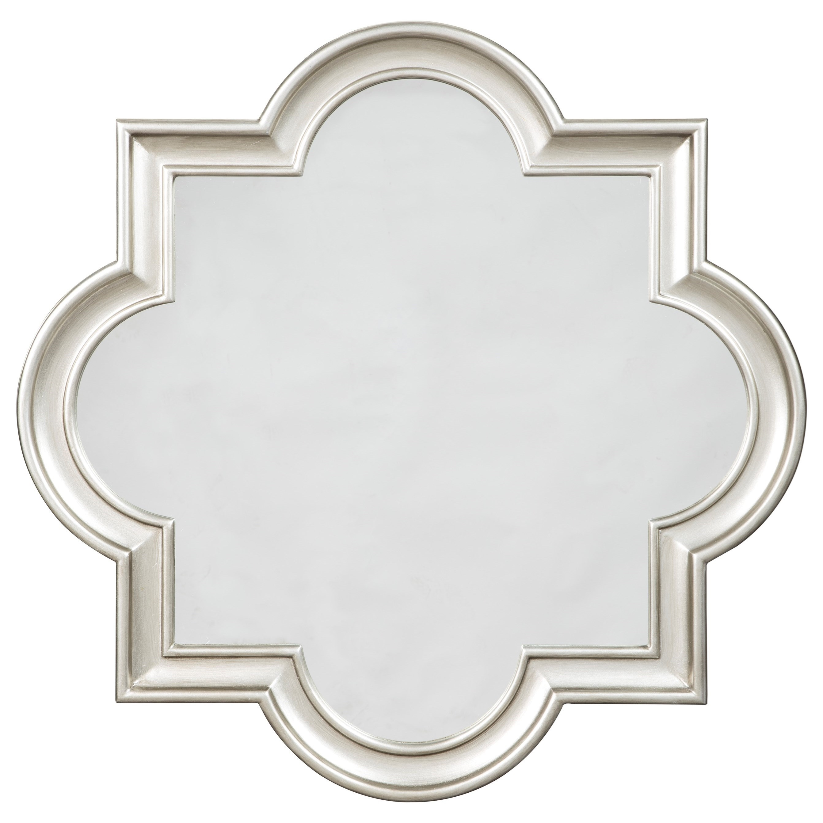 Accent Mirrors Desma Gold Finish Accent Mirror by Signature Design at Fisher Home Furnishings