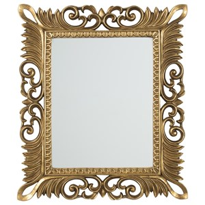 Signature Design by Ashley Furniture Accent Mirrors Denisha Antique Gold Finish Accent Mirror