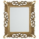 Signature Design by Ashley Accent Mirrors Denisha Antique Gold Finish Accent Mirror