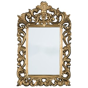 Signature Design by Ashley Accent Mirrors Denita Antique Gold Finish Accent Mirror