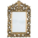 Signature Design by Ashley Accent Mirrors Denita Antique Gold Finish Accent Mirror - Item Number: A8010050
