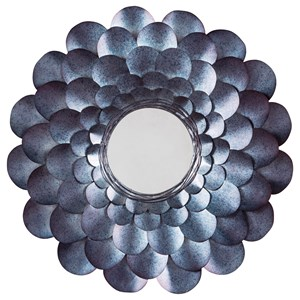 Ashley Signature Design Accent Mirrors Deunoro Blue Accent Mirror