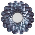Trendz Accent Mirrors Deunoro Blue Accent Mirror - Item Number: A8010061