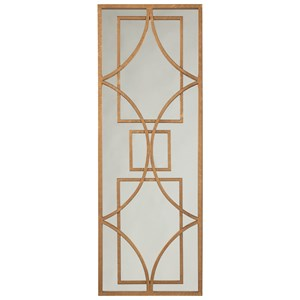 Signature Design by Ashley Accent Mirrors Djimon Antique Gold Finish Accent Mirror