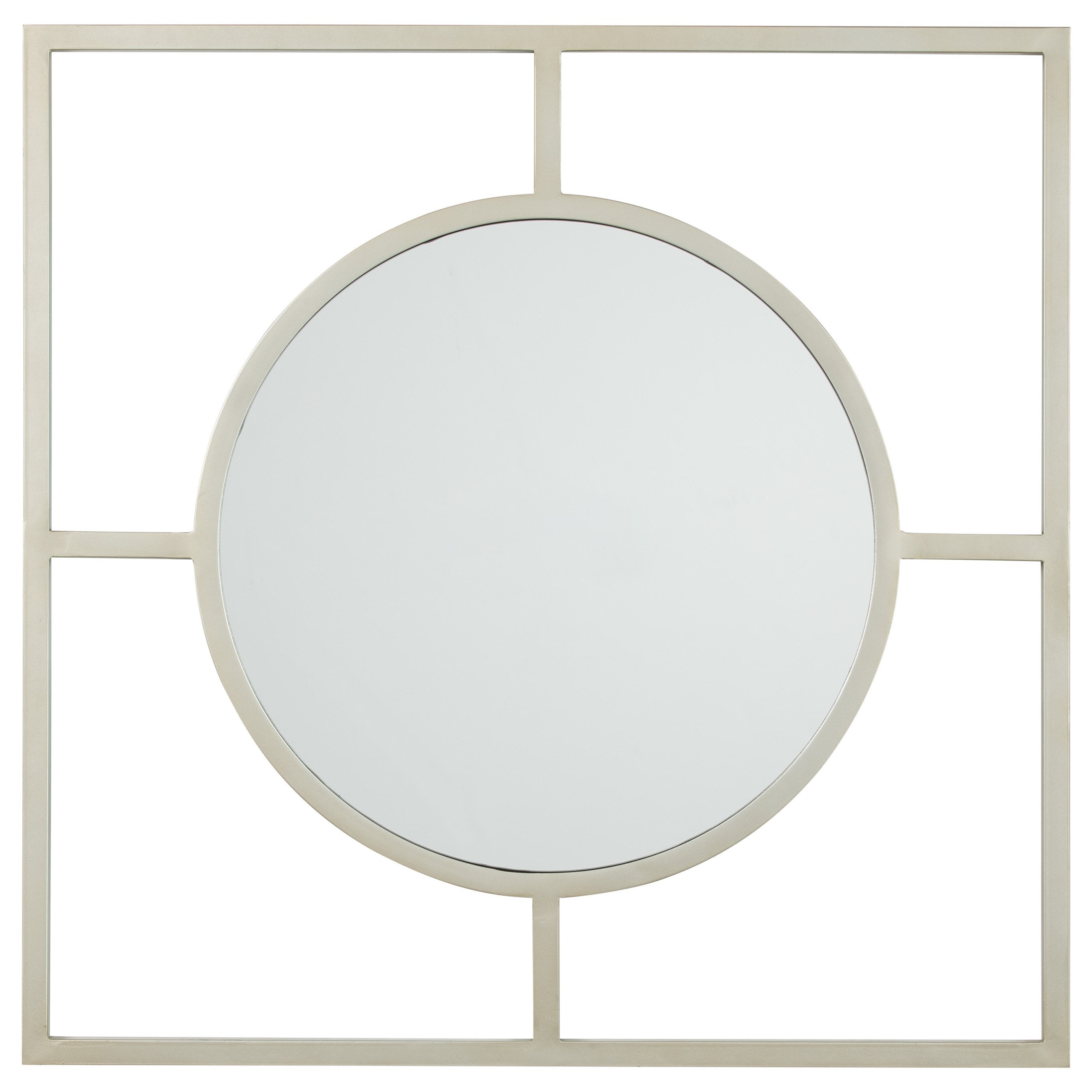 Signature Design by Ashley Accent Mirrors Druce Champagne Finish Accent Mirror - Item Number: A8010067