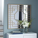 Signature Design by Ashley Accent Mirrors Cristobal Gold Finish Accent Mirror