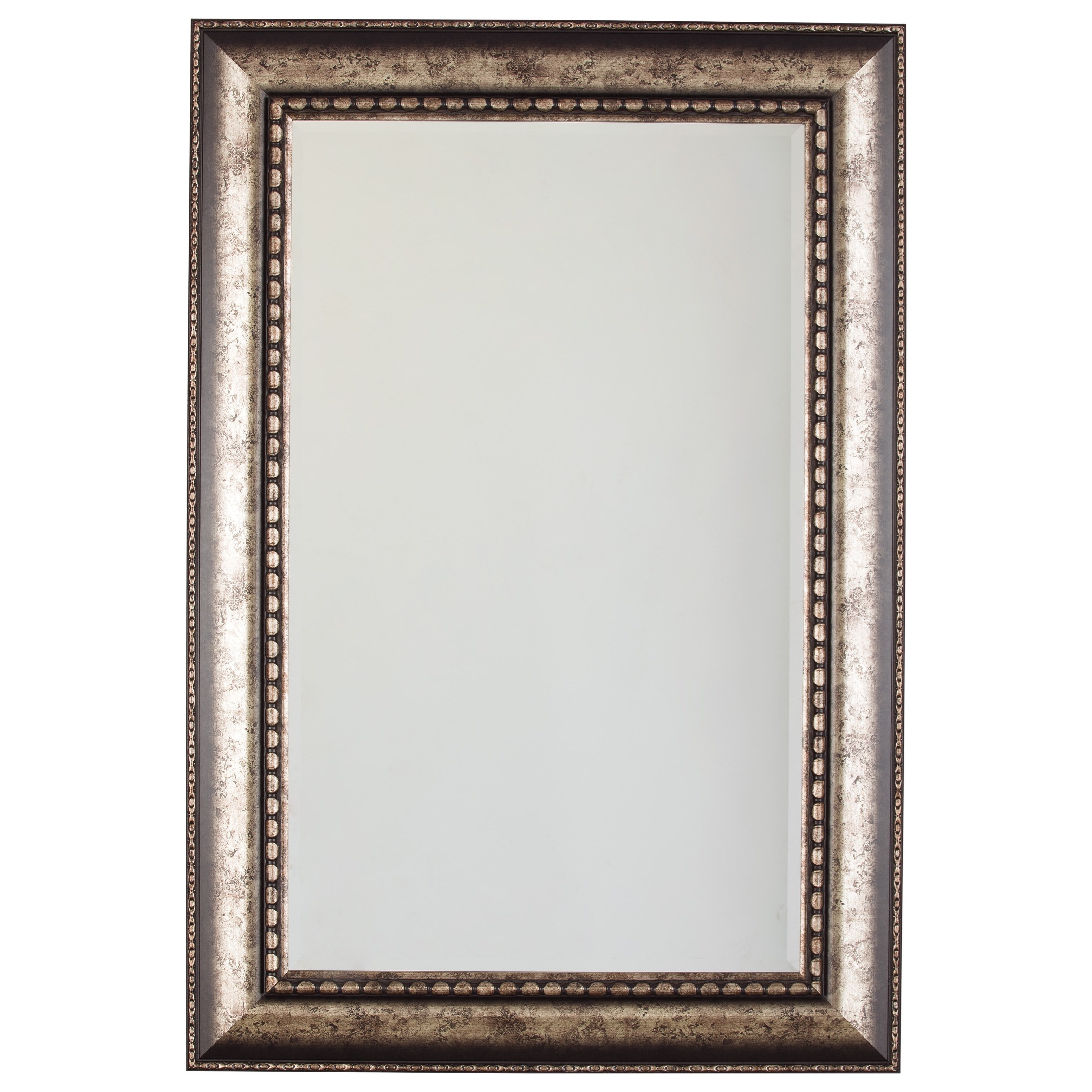 Signature Design by Ashley Accent Mirrors Dulal Antique Silver Finish Accent Mirror - Item Number: A8010082