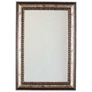 Signature Design by Ashley Furniture Accent Mirrors Dulal Antique Silver Finish Accent Mirror