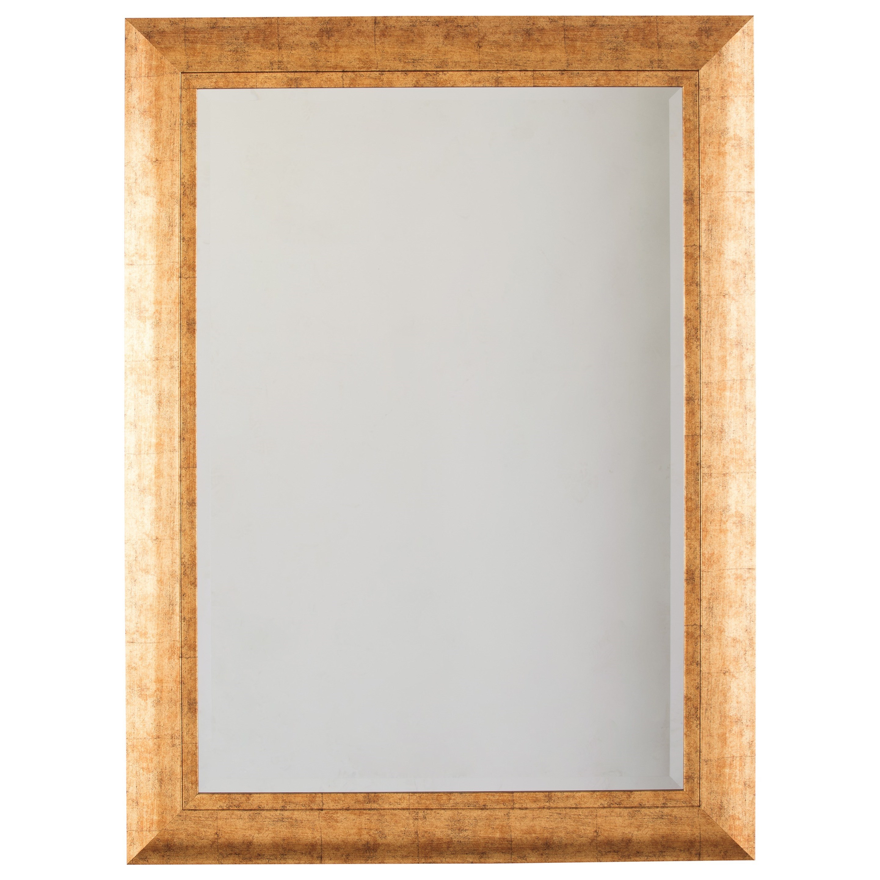Signature Design by Ashley Accent Mirrors Dulce Gold Finish Accent Mirror - Item Number: A8010084