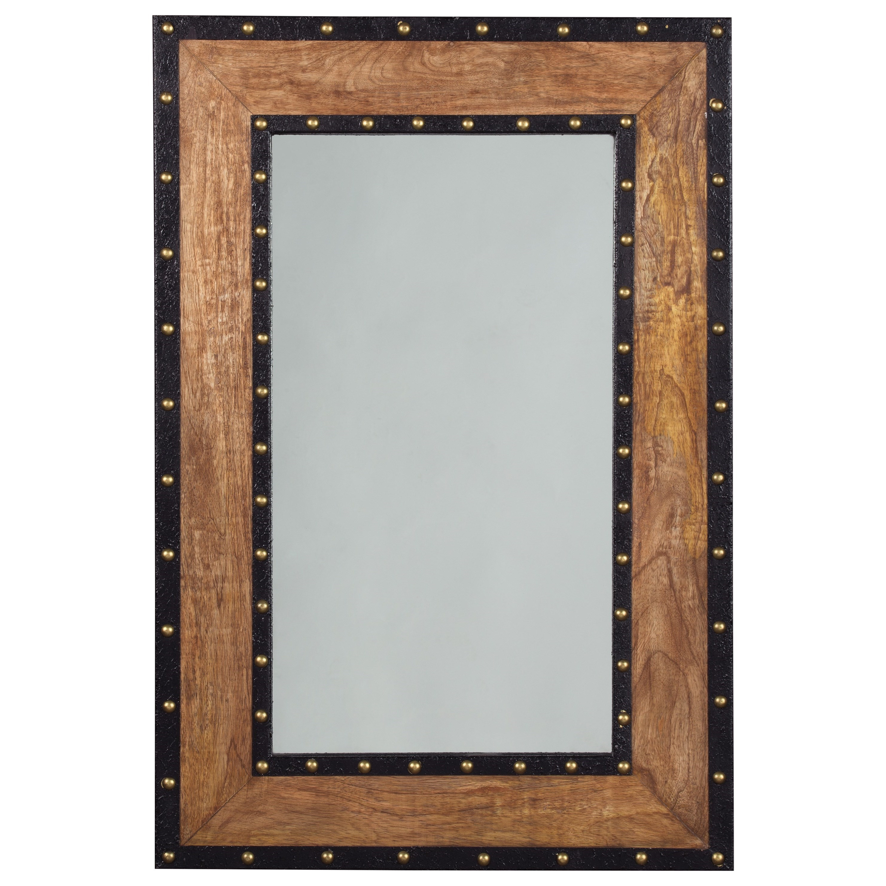 Signature Design by Ashley Accent Mirrors Dulcina Natural Finish Accent Mirror - Item Number: A8010087