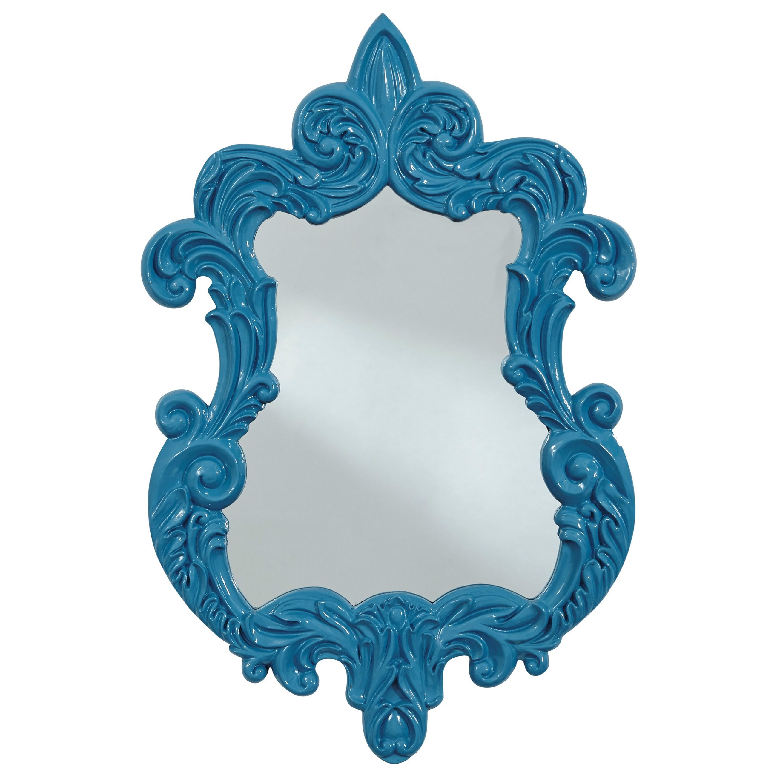 Signature Design by Ashley Accent Mirrors Diza Blue Accent Mirror - Item Number: A8010101