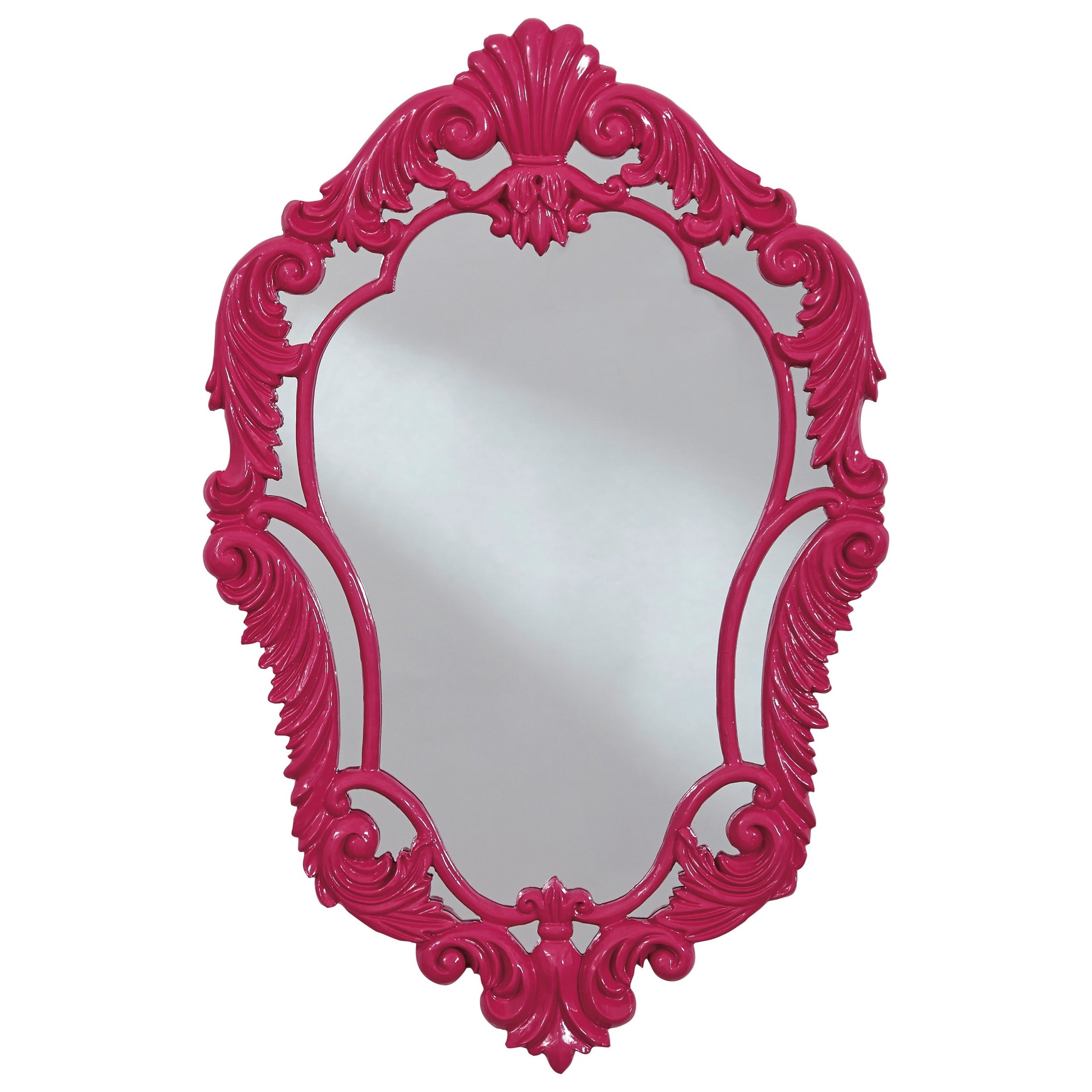 Signature Design by Ashley Accent Mirrors Diza Pink Accent Mirror - Item Number: A8010103