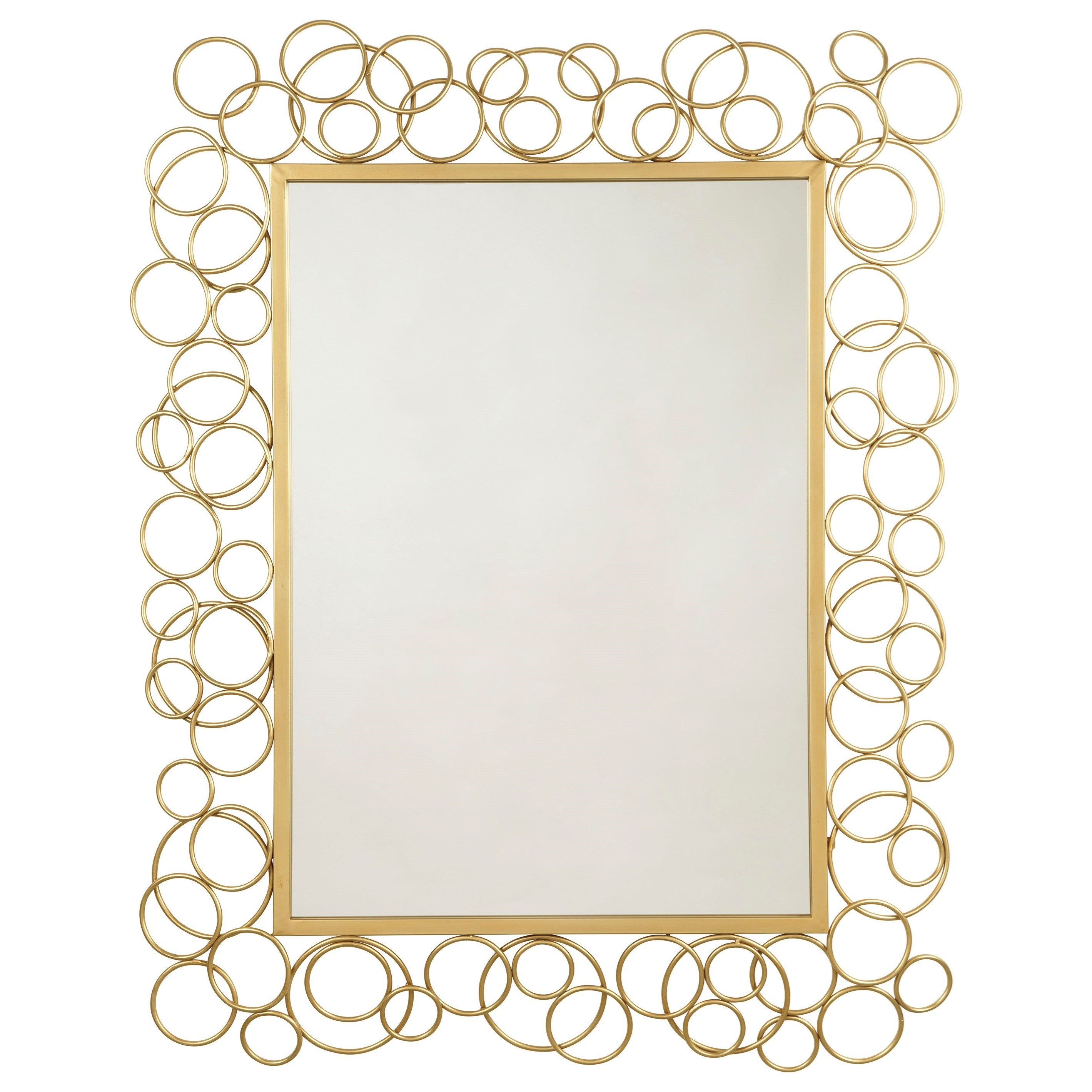 Signature Design by Ashley Accent Mirrors Dhaval Gold Finish Accent Mirror - Item Number: A8010104