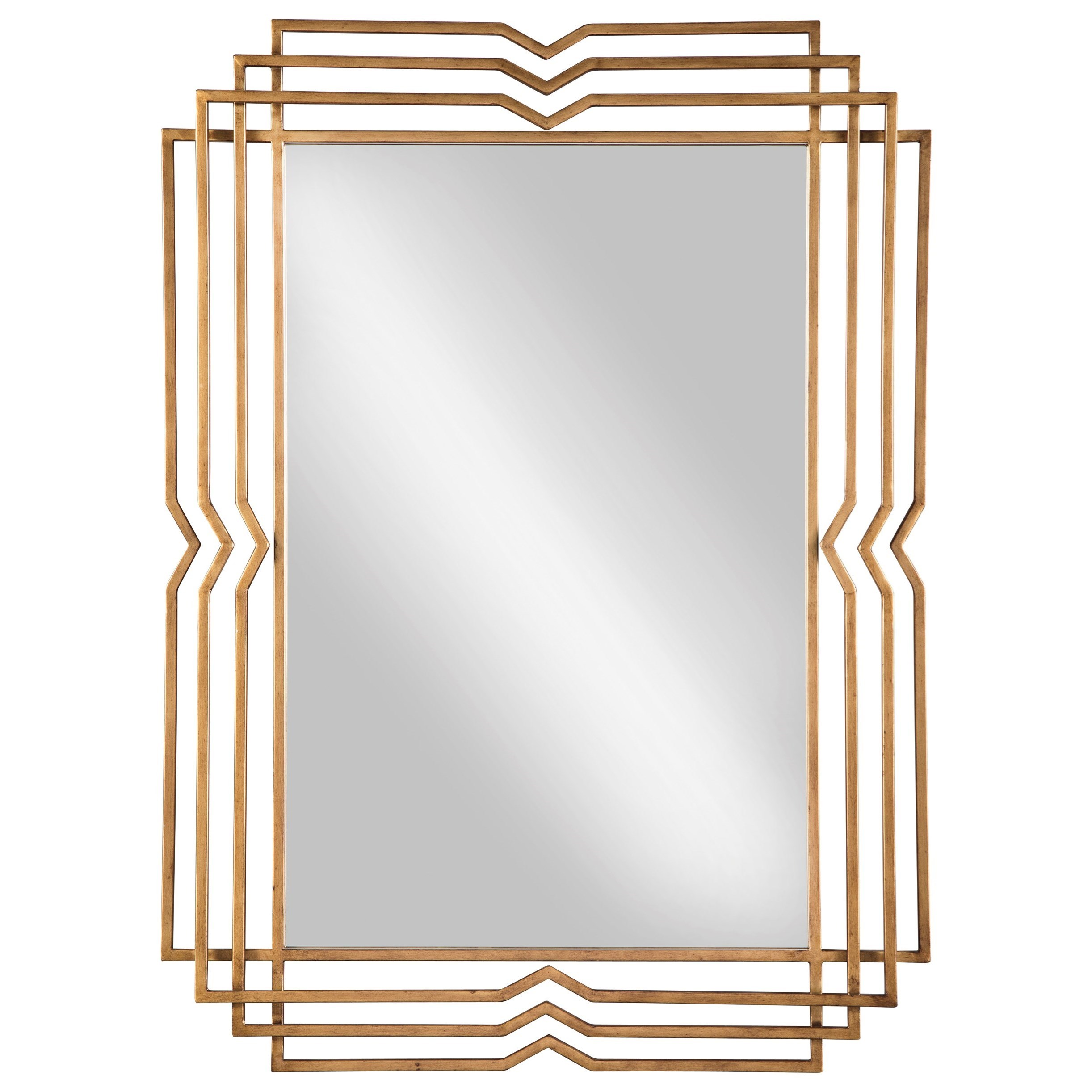 Signature Design by Ashley Accent Mirrors Tracey Antique Gold Finish Accent Mirror - Item Number: A8010105