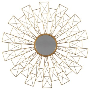 Ashley Signature Design Accent Mirrors Emberlei Gold Finish Accent Mirror