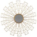 Signature Design by Ashley Accent Mirrors Emberlei Gold Finish Accent Mirror - Item Number: A8010115