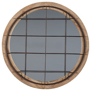Ashley Signature Design Accent Mirrors Eland Black/Natural Accent Mirror