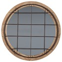 Signature Design by Ashley Accent Mirrors Eland Black/Natural Accent Mirror - Item Number: A8010120
