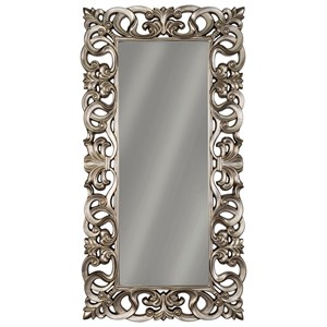 Ashley Signature Design Accent Mirrors Lucia Antique Silver Finish Accent Mirror