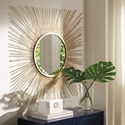 Signature Design by Ashley Accent Mirrors Elspeth Gold Finish Accent Mirror