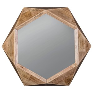 Signature Design by Ashley Furniture Accent Mirrors Corin Natural Accent Mirror