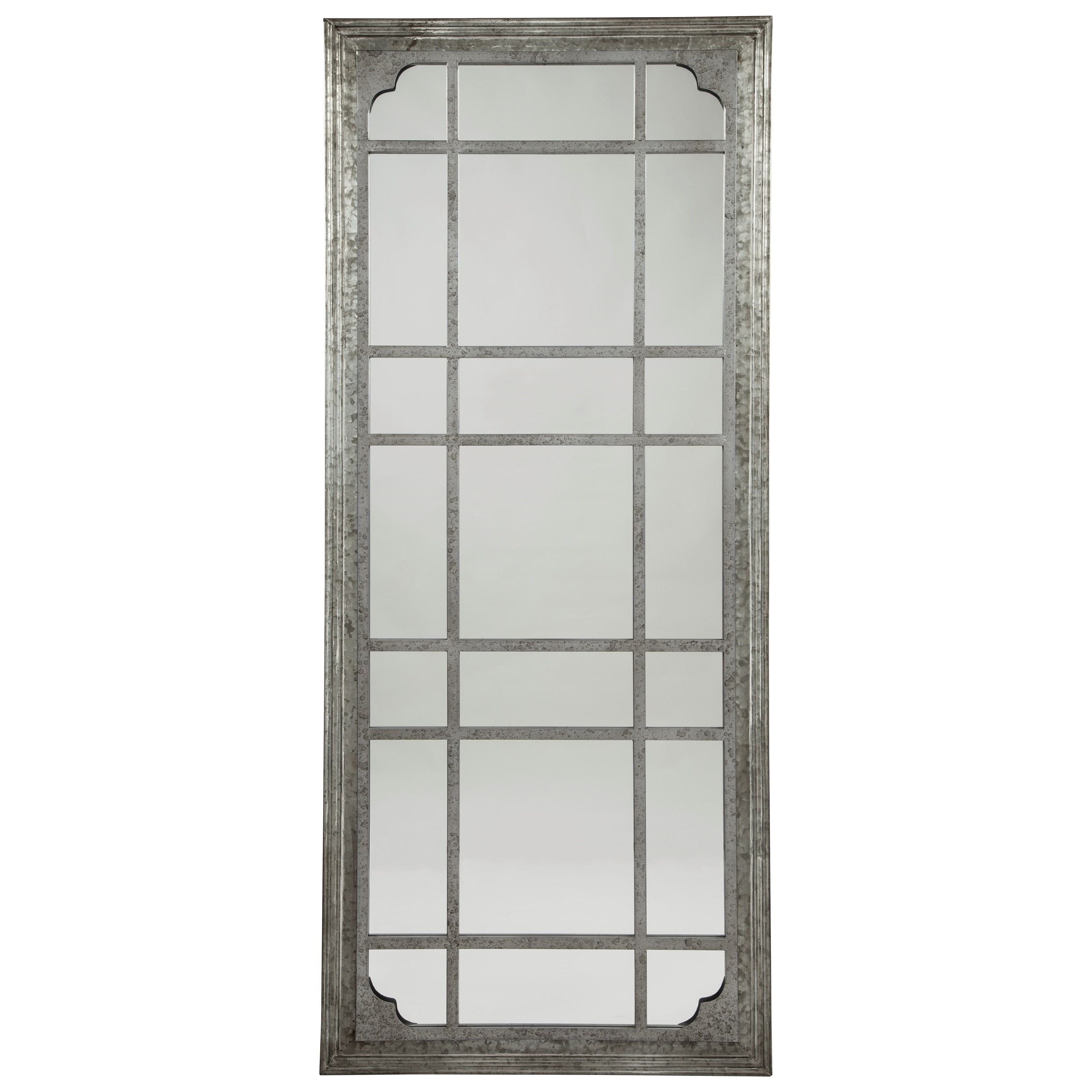 Accent Mirrors Remy Antique Gray Accent Mirror by Signature Design by Ashley at Beds N Stuff