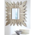 Signature Design by Ashley Accent Mirrors Antonia Antique Silver Finish Starburst Accent Mirror