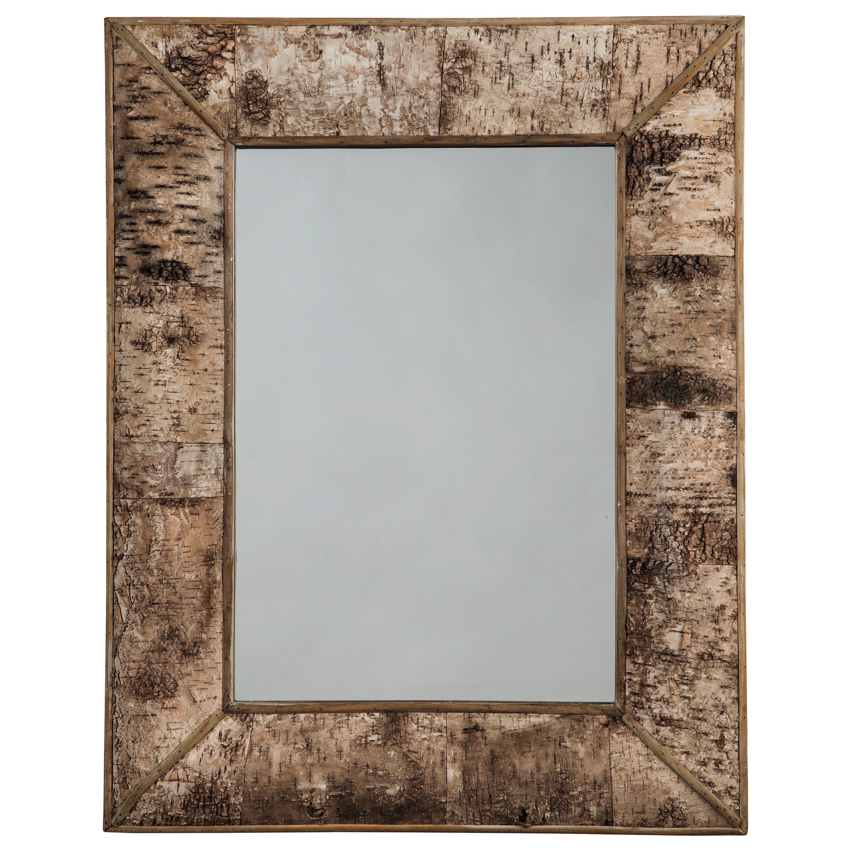 Signature Design by Ashley Accent Mirrors Josefa Brown Accent Mirror - Item Number: A8010141