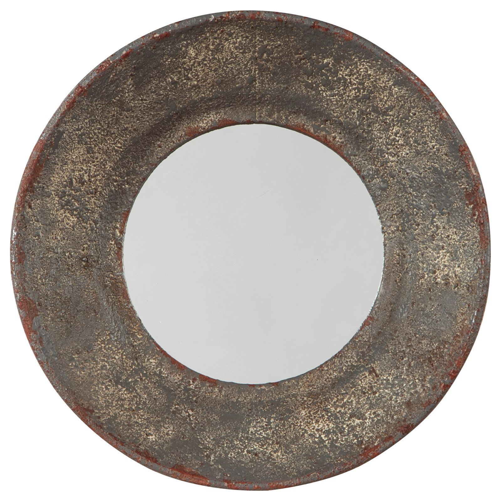Carine Distressed Gray Accent Mirror
