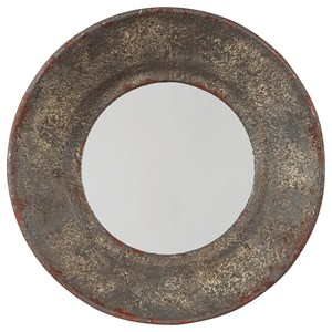 Ashley Signature Design Accent Mirrors Carine Distressed Gray Accent Mirror