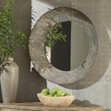 Signature Design by Ashley Accent Mirrors Carine Distressed Gray Round Metal Accent Mirror