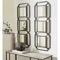 Signature Design by Ashley Accent Mirrors Savane Antique Gold Finish Accent Mirror - 2 Mirrors Shown