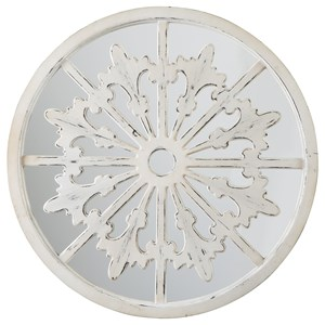 Emlen Antique White Accent Mirror