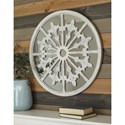 Signature Design by Ashley Accent Mirrors Emlen Antique White Accent Mirror